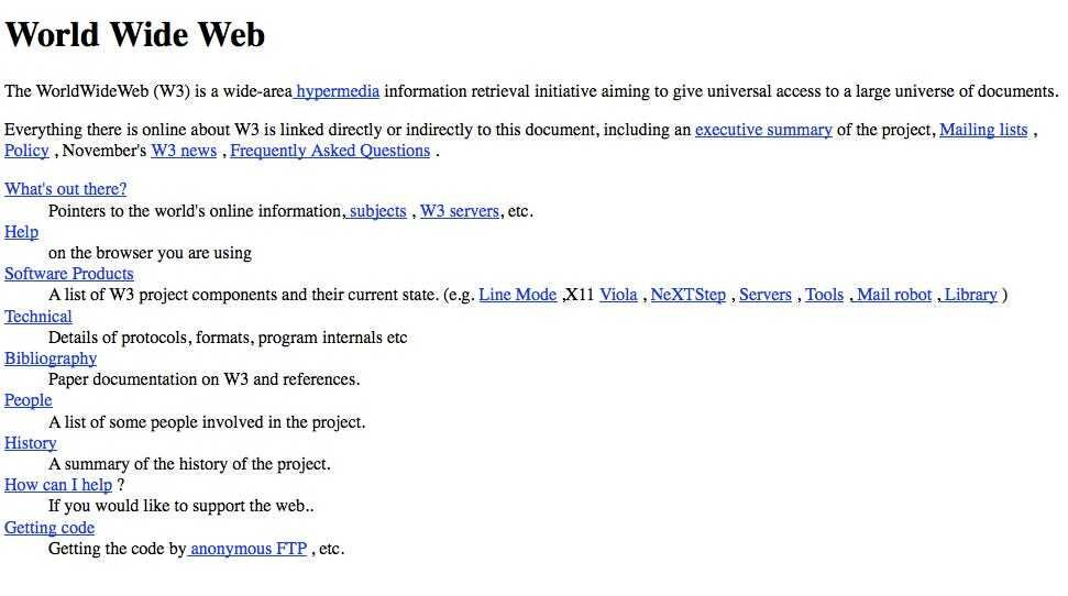 First Ever Website on Internet